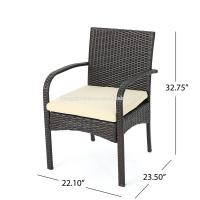 Buy Patio Furniture Outdoor 7pc Multibrown PE Wicker Long Dining Set at wholesale prices