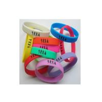 Quality Custom silicone solid bracelet for sale