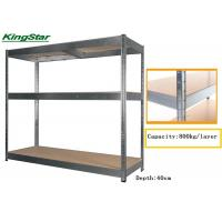 3 Tier MDF Floors Boltless Industrial Shelving With Zipped And Pattern Beam