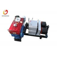 China 5T Double Capstan Cable Pulling Winch Machine Puller Hoist , Cable Winch Puller on sale