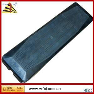China Mini excavator rubber track pad  Track shoe on sale