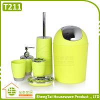 Candy Color Cheap Price Wholesale Hotel Plastic Bathroom Accessories Sets