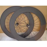 Quality 3K Finish Full Carbon Bike Wheels , Light Weight Track Cycling Disc Wheels for sale