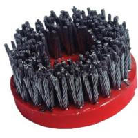China High Speed Diamond Abrasive Brush Plastic Backed Excellent Polishing Performance on sale