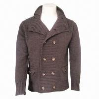 Quality IKRR Men's Woolen Jacket/Cardigan, Comfortable and Fashionable, Warm, Comes in Brown for sale