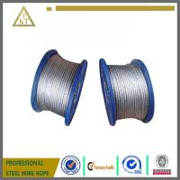 Quality Electric Galvanized Steel Wire Rope 1x7 steel cable steel wire cable for sale
