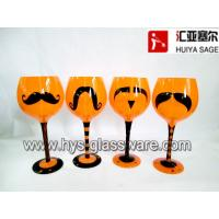 China Hollween wine glass decals, assorted 4 designs, mustache decals on sale