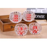 Quality Clear Ball Shape Candle Glass Cups High White Glass Household Decorative for sale