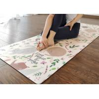 Quality Anti Slip Custom Printed Yoga Mat Double Surface Non Slip Custom Made Yoga Mats Standard 5mm Thickness Eco - Friendly for sale