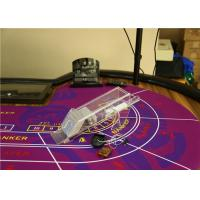 China Glass Handled Transparent Casino Card Shoe With CVK 500 Poker Analyzer For Cheat on sale