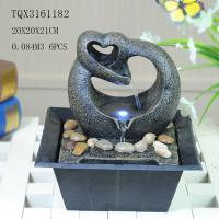 Quality Free Standing Polyresin Water Fountain Heart Shaped Battery Powered For Home Decor for sale