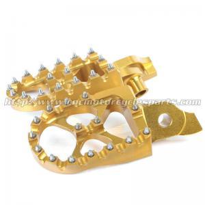 Quality Gold 7075 Aluminium MX Foot Pegs Foot Rests RMZ 250 450 RMZ250 RMZ450 for sale