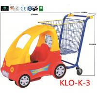 Quality Cute Chrome Little Kids Shopping Carts With Plastic Children Car / Kiddie Shopping Carts for sale