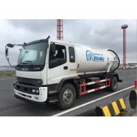 China Sanitation Sewage Cleaning Truck , Vacuum Sewage Suction Truck Easy Operation on sale
