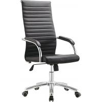 Quality Black Leather High Back Office Chair For Manager Anti Mildew Long Using Life for sale