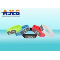 Quality Multifunction Hf Rfid Tags,Custom Printed Rfid Wristbands With Led Pedometer for sale