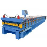 Quality Aluminum Roof Panel Roll Forming Machine Blue For Tile Making Industry for sale