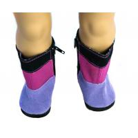 Black Red And Purple Multicolor Kinky Boots for 18 inch Doll , American Girl / Madame Alexander Toy Accessories