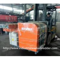 Jumbo Bag Scrap Plastic Film Shredder Double Shaft For Soft Type Materials