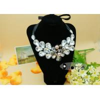 China Glass Stone Beaded Collar Necklace on sale