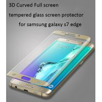 China Samsung Galaxy S6 Edge  tempered glass screen protector Edge to Edge 3D full coverage 0.33mm ultrathin Scratch-Resistant on sale