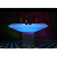 Quality Glowing Illuminated Bar Tables 15 Colors Metal Stand 12 Months Warranty for sale