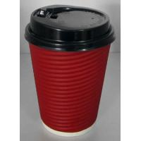 Quality Light Weight Disposable Paper Cups With Lids Anti Slip Design , Double Wall For Hot Drink for sale