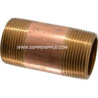 """Quality Professional  Brass Pipe Nipple  ASTM B43 Standard NPT Rust Proof  2""""X4"""" for sale"""