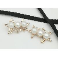 Star Shaped Zinc Alloy Metal Shoe Buckles Corrosion Resistant Easy To Put On