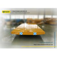 Quality Yellow no - powered tow tailer for industrial assembly line with moving platform for sale