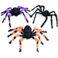 Quality Customized Halloween Party Crafts Halloween Props Black Wool Cloth Soft Spider for sale