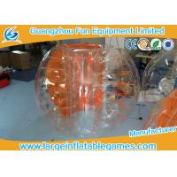 Quality TPU Human Size Inflatable Bubble Football With Orange Strings / Handles for sale