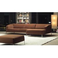 Modern furniture brown fabric nice living room sectional for Nice living room couches