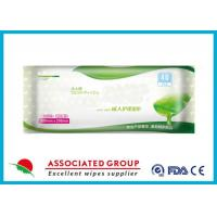 Buy Ultra Large Soft Adult Wet Wipes With Aloe Vera Hypoallergenic Unsented 40 Sheets at wholesale prices