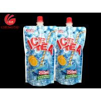 Buy cheap Custom 250ML Stand Up Spout Pouches / Doypack Packaging for Ice Tea from Wholesalers