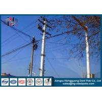 Quality Anti - Rust Tubular Electric Steel Pole For Transmission Line Pole for sale