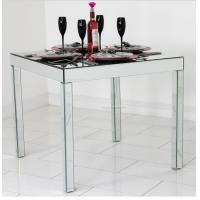 Quality Full Mirror Glass Dining Table , Silver Square Mirror Top Dining Table for sale