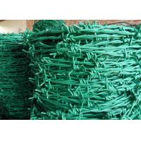 RAL Colors Barbed Wire Mesh Fencing For Boundary / Railway , Anti Corrosion