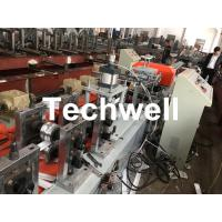 Quality Aluminum, Carbon Steel Pu Foam Rolling Shutter Door Making Machine With Servo Tracking Flying-Saw Cutting for sale