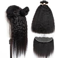 Quality Yaki Straight Cambodian Virgin Hair Extensions Pure Swiss Lace 13x4 For Girl for sale