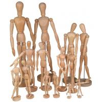 Quality Full Size Wooden Human Mannequin / Figure , Wooden Drawing Doll For School for sale