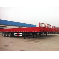 Quality 40 feet-3 Axles-40T-Rail Side Flat Bed container semi trailer for sale