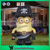 Quality Oxford Cloth Inflatable Cartoon Character Giant Inflatable Minions Customized Size for sale