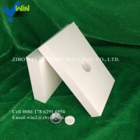 Quality alumina ceramic cylinder wear resistant rod with two slots for ceramic rubber wear liner for sale