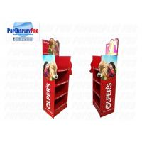 Quality LED Lighting Poster POS Shelf Display Stands 4 Shelving Holding Strength 100KGS For Milk for sale