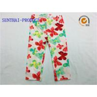 Quality Comfortable Cute Baby Girl Leggings Water Ink All Over Printed For Spring / Summer for sale
