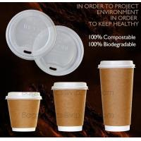 China Biodegradable Eco friendly Disposable Cornstarch CPLA Cup,hot sale plastic coffee cup lid manufacturers fit for paper co on sale