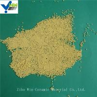 Quality High polishing golden cerium zirconia grinding media for basket mill for sale