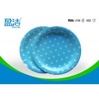 Quality Odourless Smell Disposable Paper Plates 6 7 9 Inch With Certificates SGS FDA LFGB for sale
