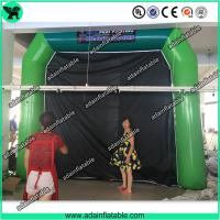 Buy High Quantity Green Inflatable Paint Booth, PVC tarpulin Inflatable Booth Tent at wholesale prices